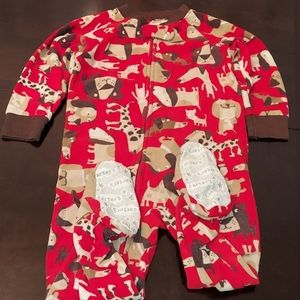 Carter's Red Dog Footed Pajamas 18M